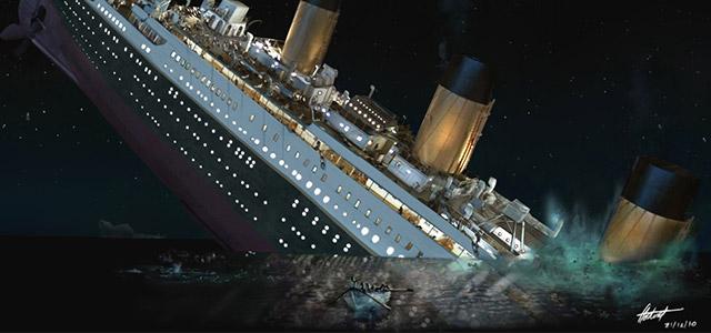 タイタニック号の沈没
